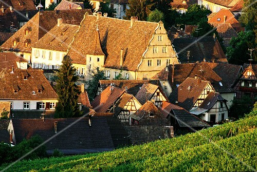 Andlau, well-known wine town in Alsace, France