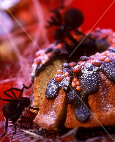 Pumpkin gugelhupf for Halloween