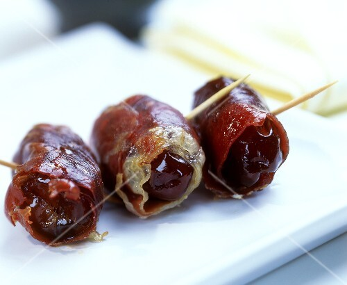 Dates wrapped in ham