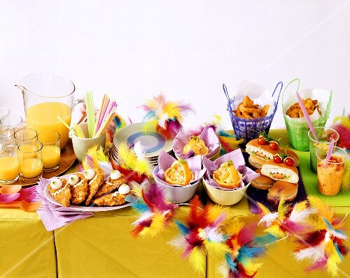 Buffet for Carnival party, main courses