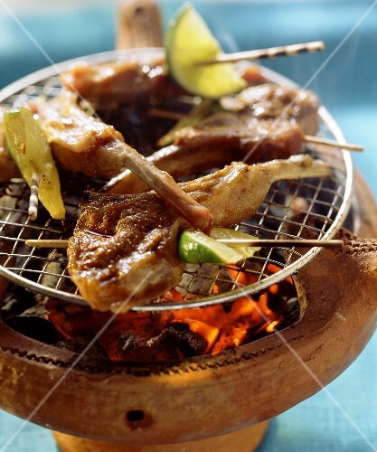 Spicy lamb chops on the barbecue