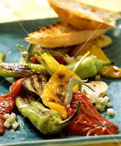 Barbecued summer vegetables