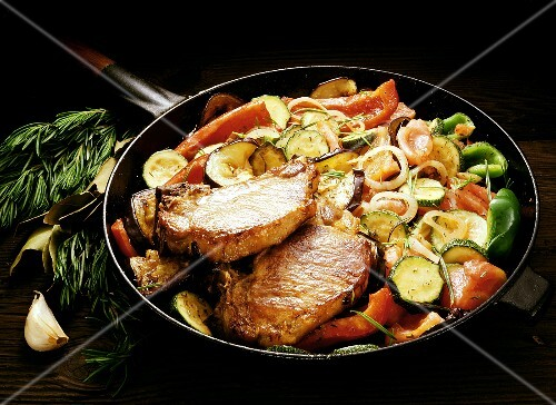 Cutlets with Ratatouille