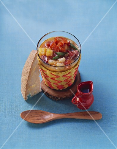 Bean stew in glass (Menorca, Spain)