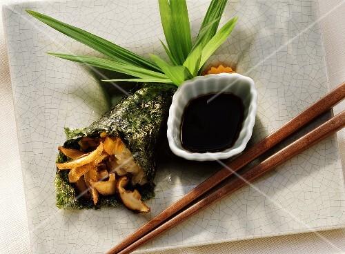 Sushi with Shiitake Mushrooms