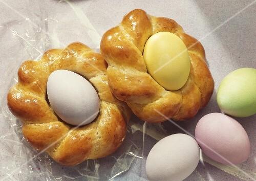 Baked Glazed Easter Egg Nests