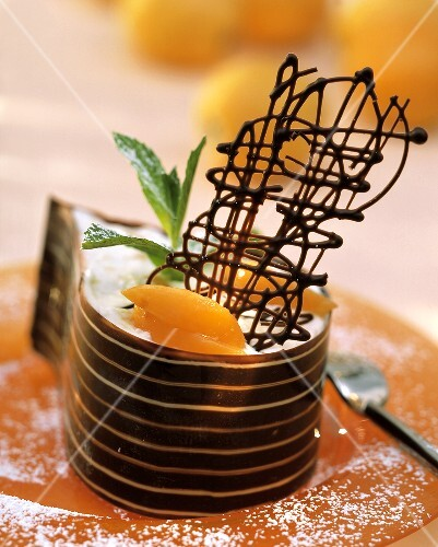 Chocolate Ribbon with Apricot Cream