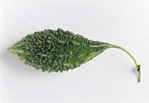 A bitter gourd on white background