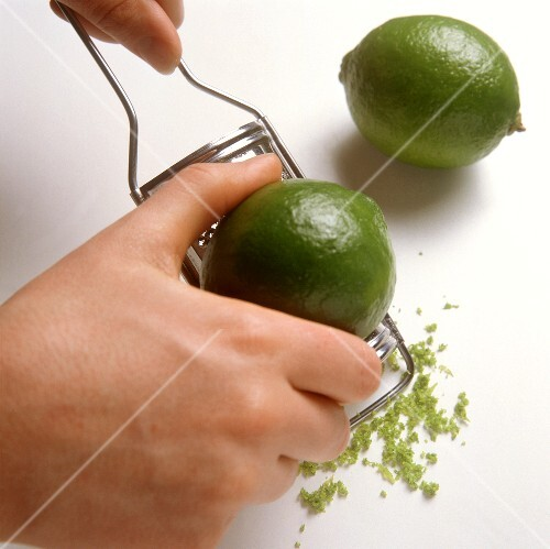 Grating lime peel