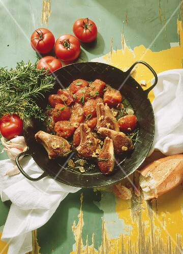 Lamb Chop with Tomatoes