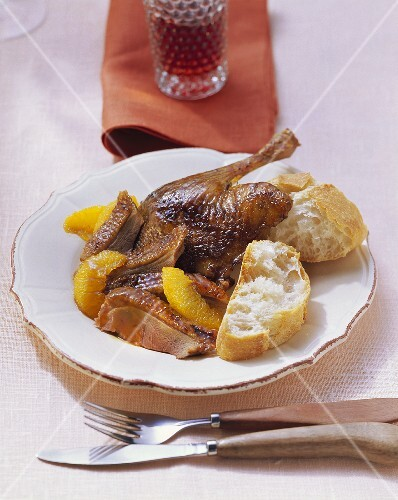 Canard a l'orange mit Baguette