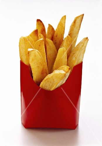 Chips in red paper bag