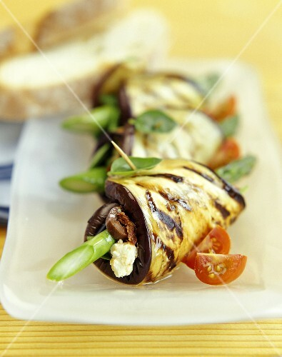 Rolled Eggplant Appetizers