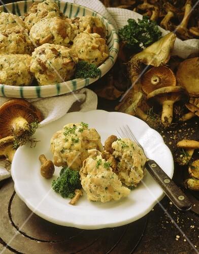 Milkcap (mushroom) dumplings