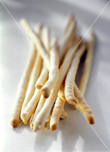 Grissini freschi (Hand-made bread sticks, Italy)