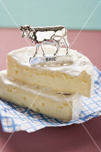 Brie with label