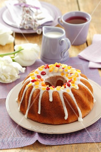 Baba (yeasted ring cake) for Easter