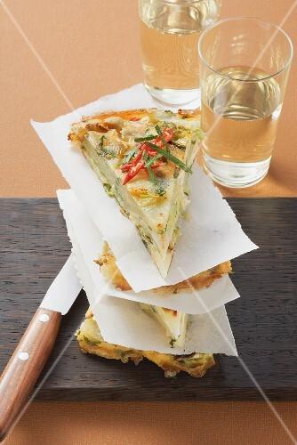 Potato and cabbage tortilla