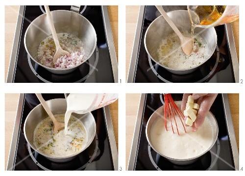 Making cider cream sauce