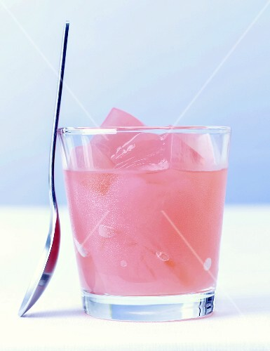 Pink grapefruit jelly drink