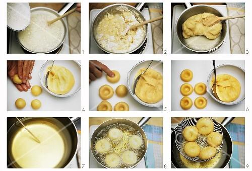 Making Hanim Göbegi (Ladies' navels, Turkish cakes)