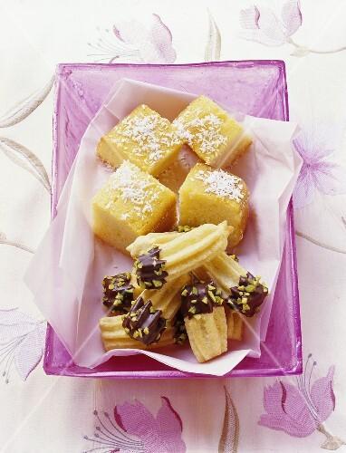 Turkish specialities: Tulumba Tatlisi and Yogurt Tatlisi