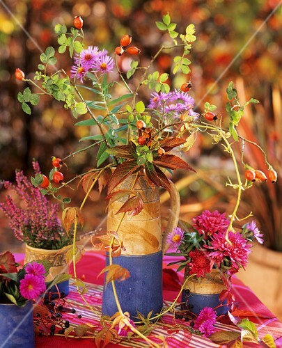 Autumnal flower arrangement