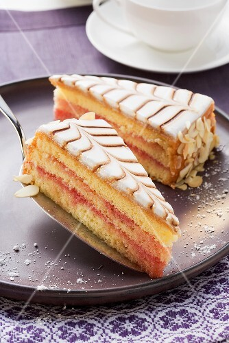 Punch cake with marzipan