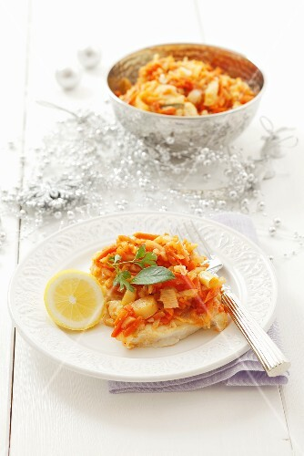 Fish with vegetables (Christmas)