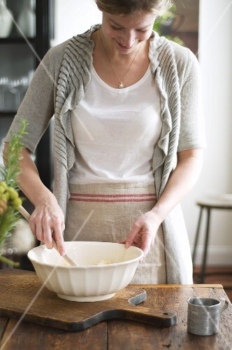 Woman making pastry