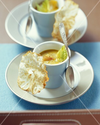 Celery and apple soup