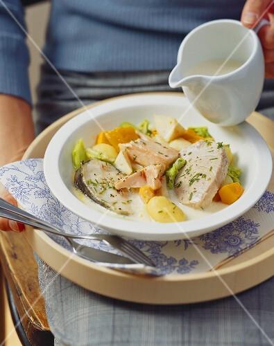 Pichelsteiner stew with fish