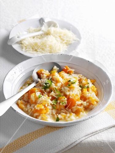 Pumpkin risotto with Parmesan