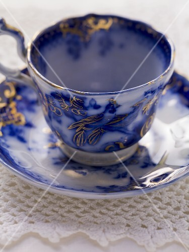 A soup cup and saucer
