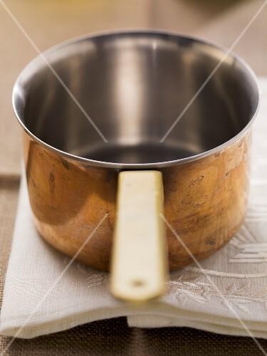 A copper pan