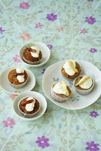Date & brandy cupcakes and apple & Calvados cupcakes
