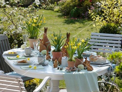 Easter breakfast on terrace