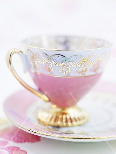 China teacup and saucer