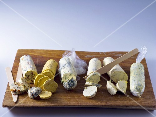 Various sorts of herb and spice butter