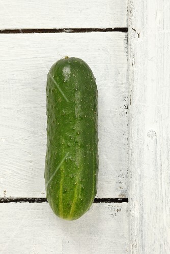 A cucumber, seen from above
