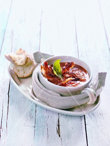 Tomato soup with Pancetta