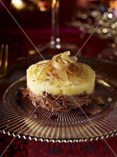 Parmentier potatoes with duck and onions
