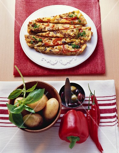 Mince frittata (savoury mince and vegetable omelette)