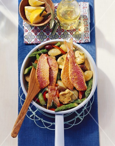 Provençal fish and vegetable dish