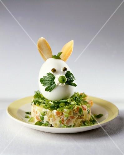 Gekochtes Ei Als Osterhase Auf Bilder Kaufen 303001 Stockfood