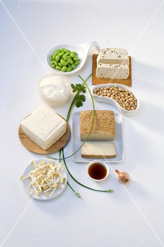 Various soya products