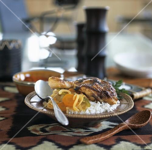 Yassa Poulet (Hähnchengericht mit Gemüse, Senegal)
