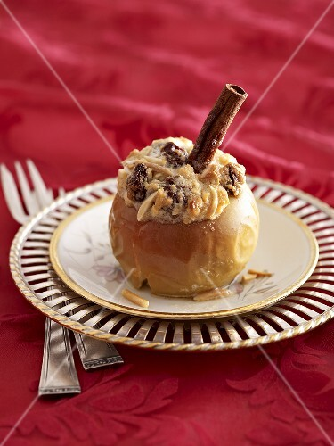 Baked apple with a marzipan filling
