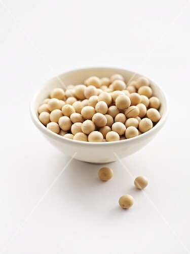 Soya beans in a ceramic bowl