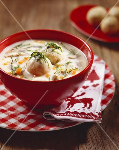 Goose giblet soup with dumplings, Burgenland, Austria